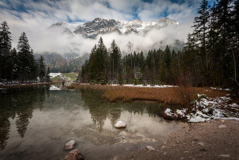 Hintersee See, Nationalpark Berchtesgaden lizenzfreies stockbild