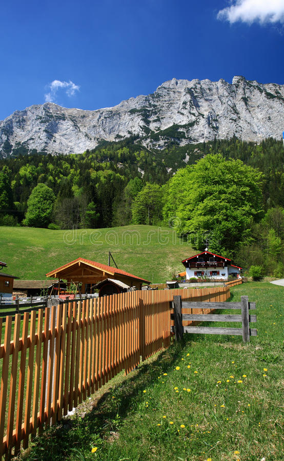 Hintersee Village In The Alps Royalty Free Stock Photography