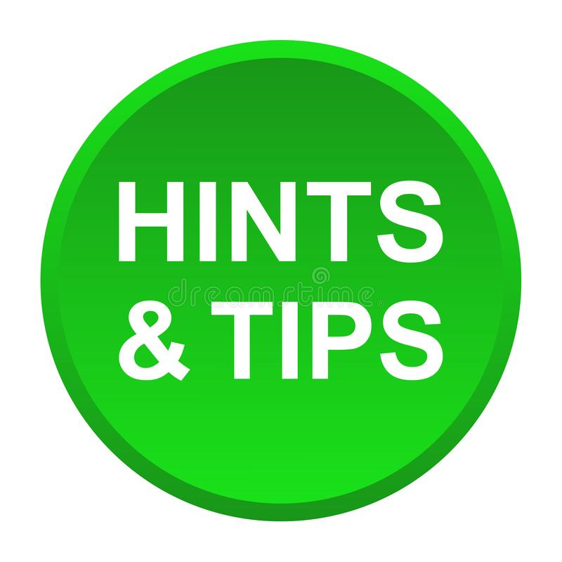 Hints and tips vector illustration