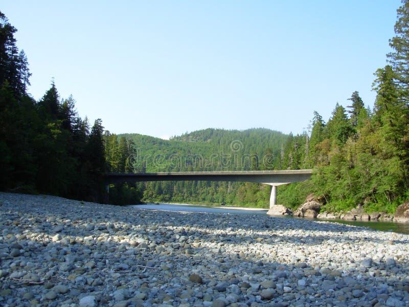 hiouchi моста стоковая фотография rf