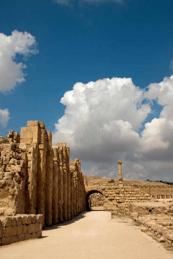 Hipódromo de Jordão Jerash imagem de stock royalty free