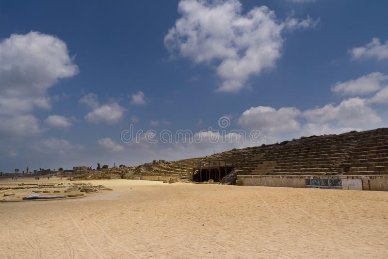 Hipódromo romano em Caesarea imagem de stock royalty free