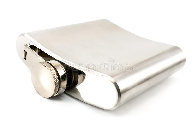 Hip Flask For Alcohol Royalty Free Stock Photography