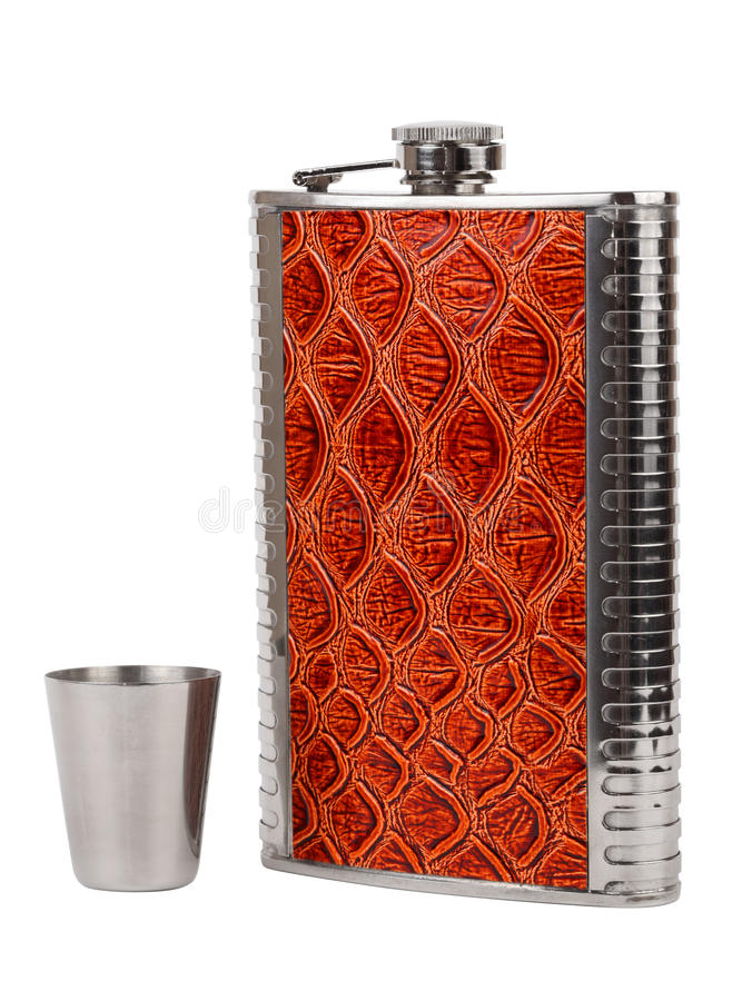 Download Hip flask stock photo. Image of accessory, brandy, chrome - 29760278