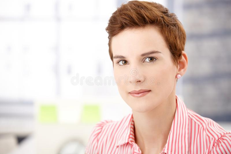 Download Hip ginger woman stock image. Image of camera, assistant - 17787693