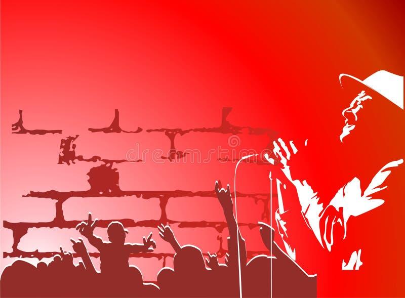 Hip-hop ilustração stock
