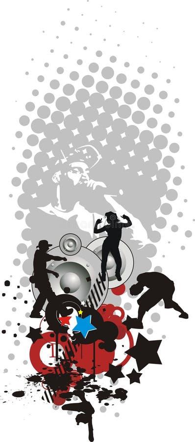 hip hop ilustracji
