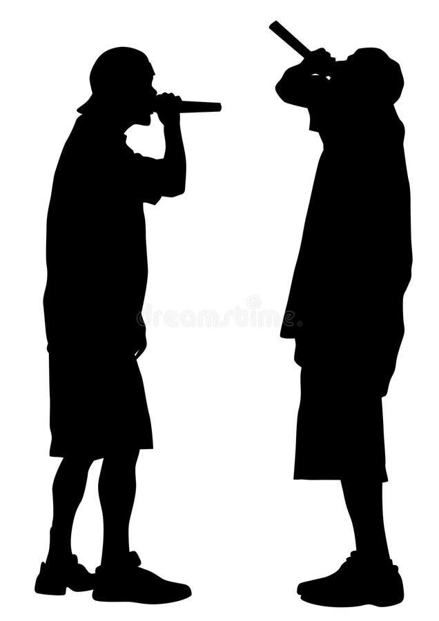 Hip hop artyści dziesięć ilustracja wektor