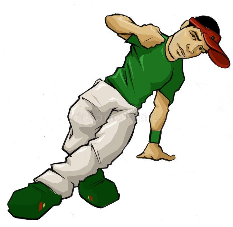 Hip Hop Breakdance. Urban Hip Hop Breakdance Breaker B Boy stock illustration