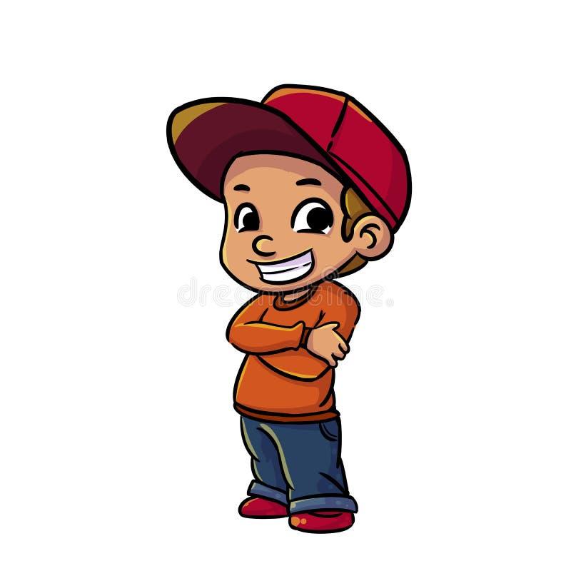 Hip hop chłopiec royalty ilustracja