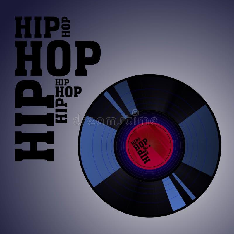 Hip hop competition poster vector illustration