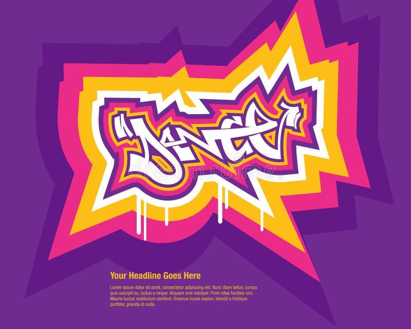 Hip Hop dance. Modern Hip Hop dance emblem in vector format stock illustration