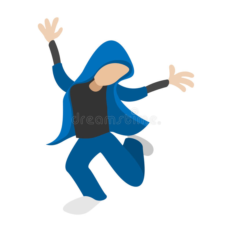 Hip hop dancer cartoon icon royalty free illustration