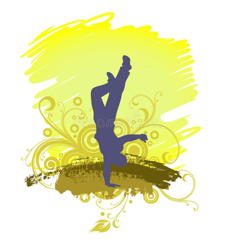 A Hip-hop Dancer, Dancing Silhouette stock illustration