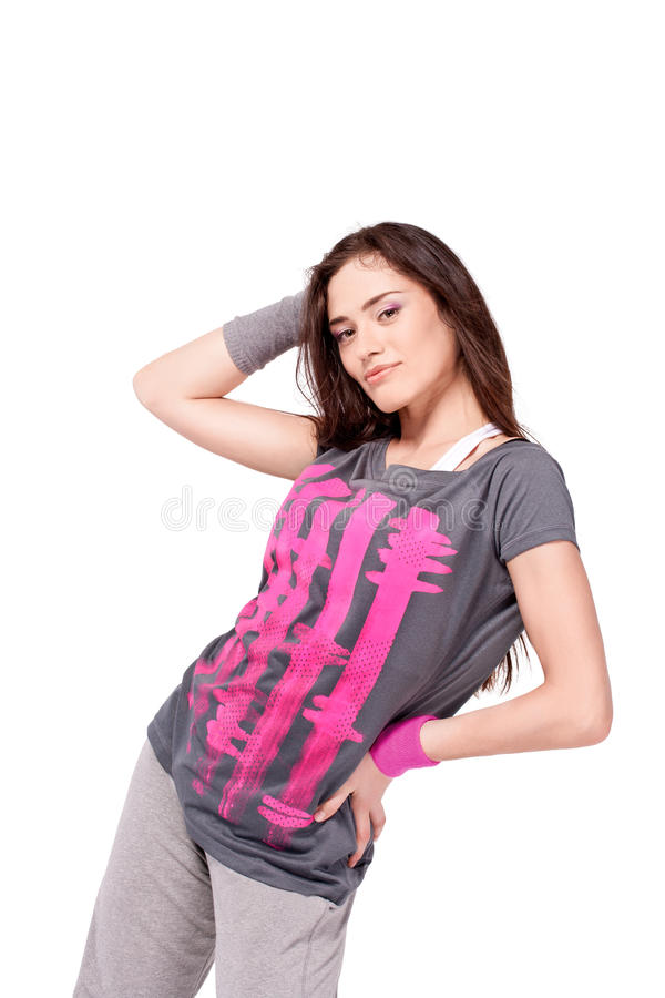 Hip-hop dancer girl royalty free stock photos