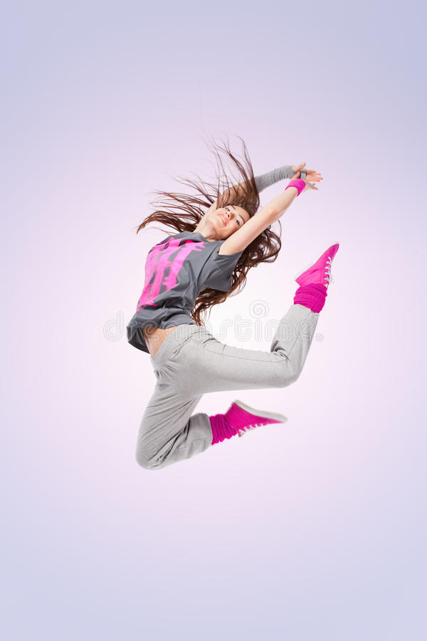 Hip-hop dancer girl stock photography