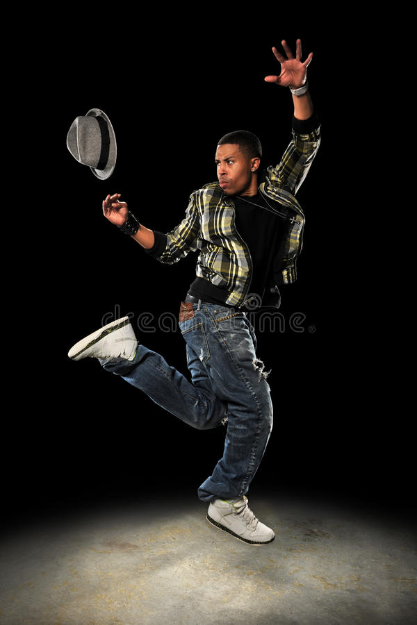 Download Hip Hop Dancer Jumping stock image. Image of jumping - 18121291
