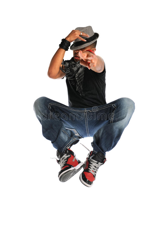 Download Hip Hop Dancer Jumping stock photo. Image of trendy, person - 26909538