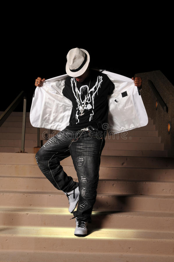 Hip Hop Dancer Performing royalty free stock photos