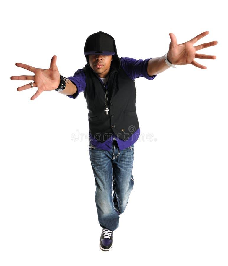 Hip Hop Dancer Performing stock images
