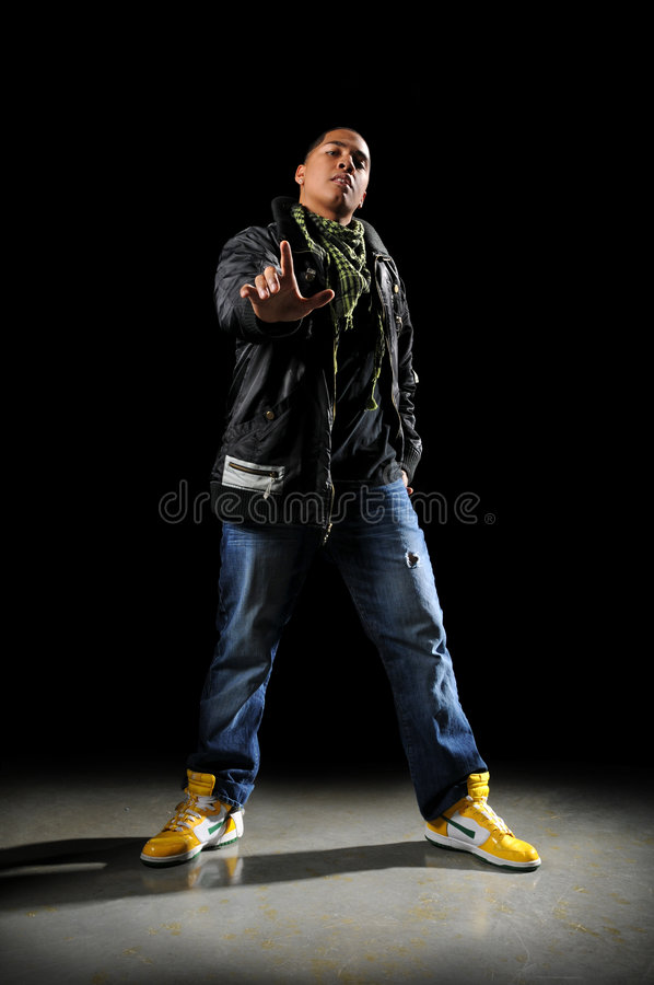 Hip Hop Dancer Performing royalty free stock image