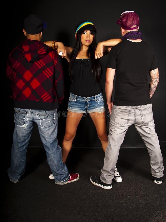 Hip hop dancer series stock images
