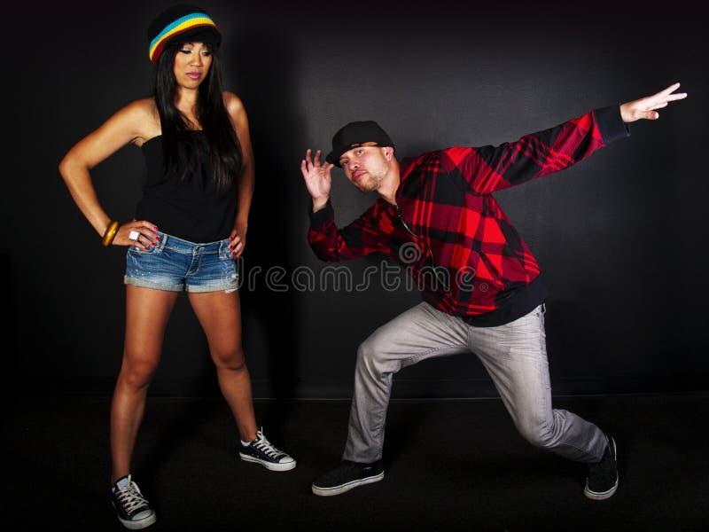 Hip hop dancer series stock image