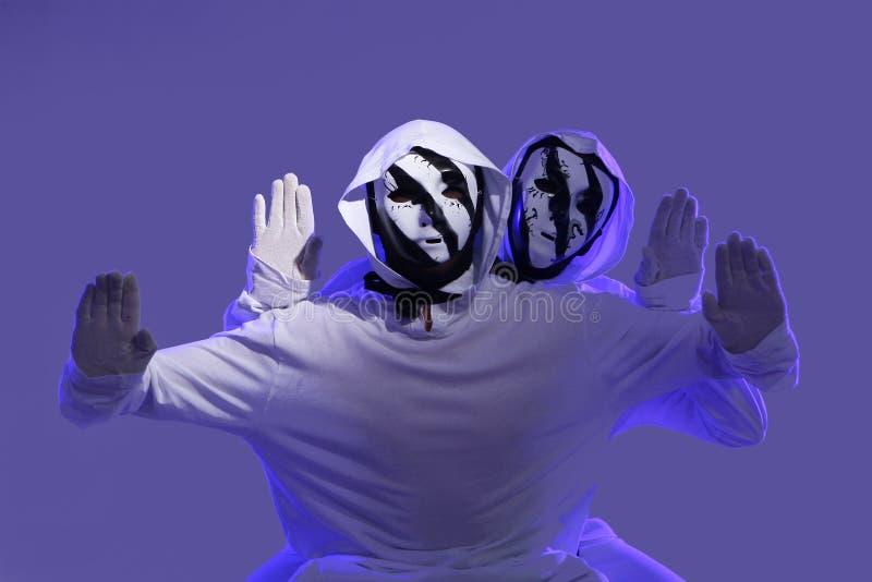 Hip hop dancers. In studio royalty free stock image