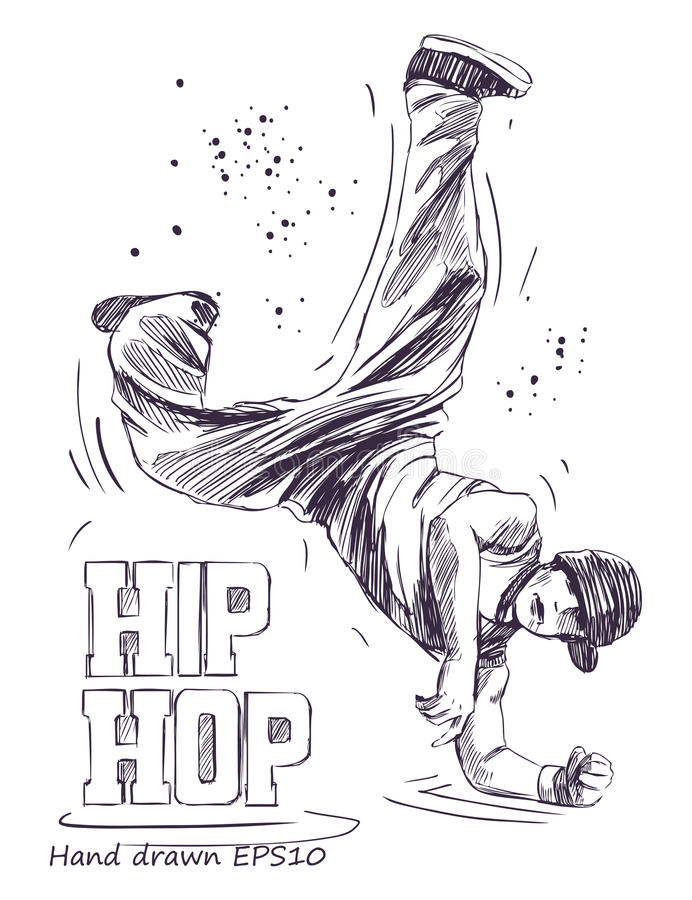 Hip Hop dansare royaltyfri fotografi