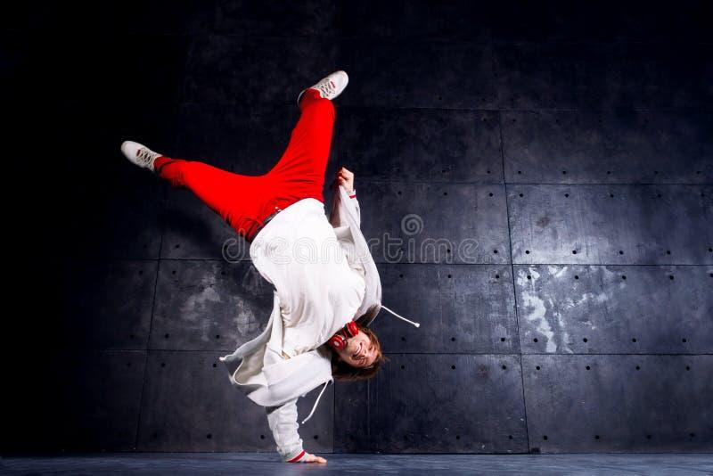 Hip-hop del hombre/bailarín del r&b/de la rotura imagenes de archivo