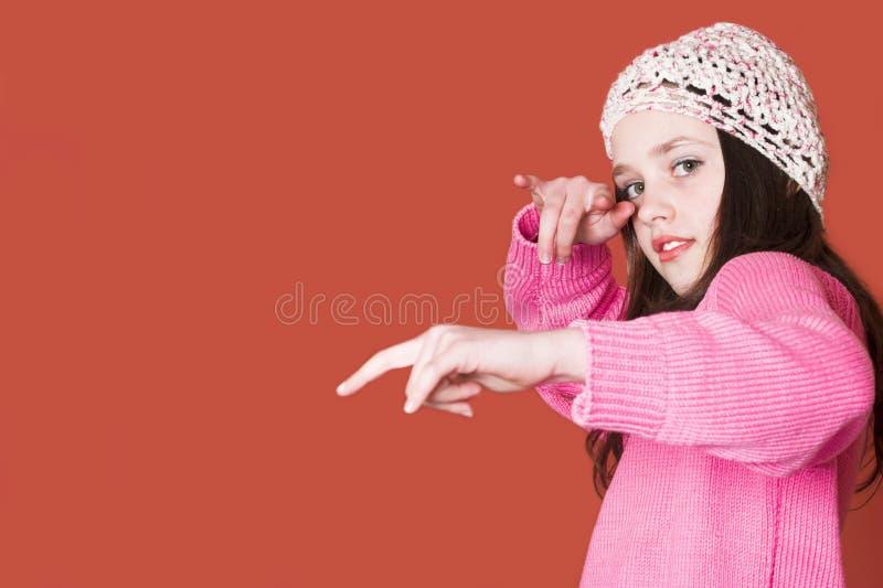 Hip-hop girl royalty free stock photography