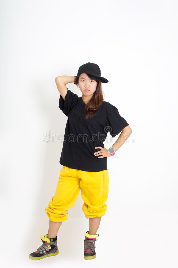 Hip hop girl royalty free stock image