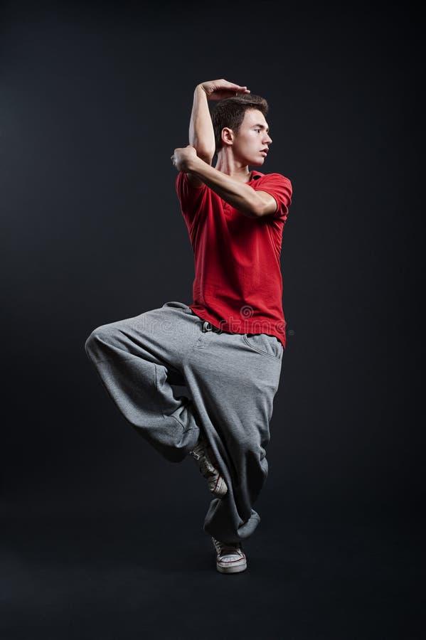 Hip-hop Guy Is Dancing Stock Images