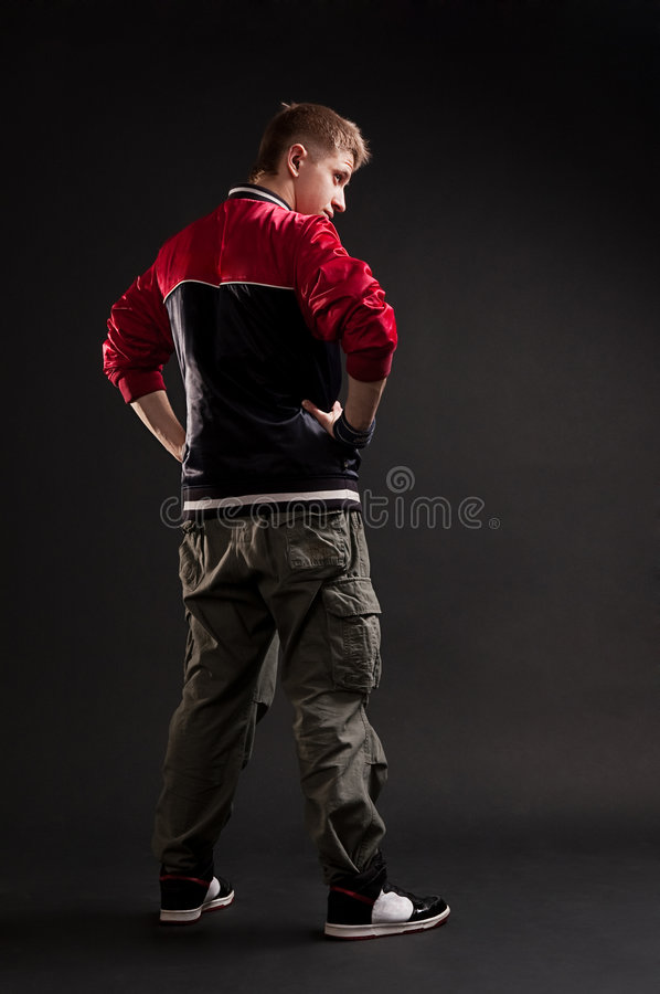 Download Hip-hop Guy Looking At Something Stock Image - Image: 8423105