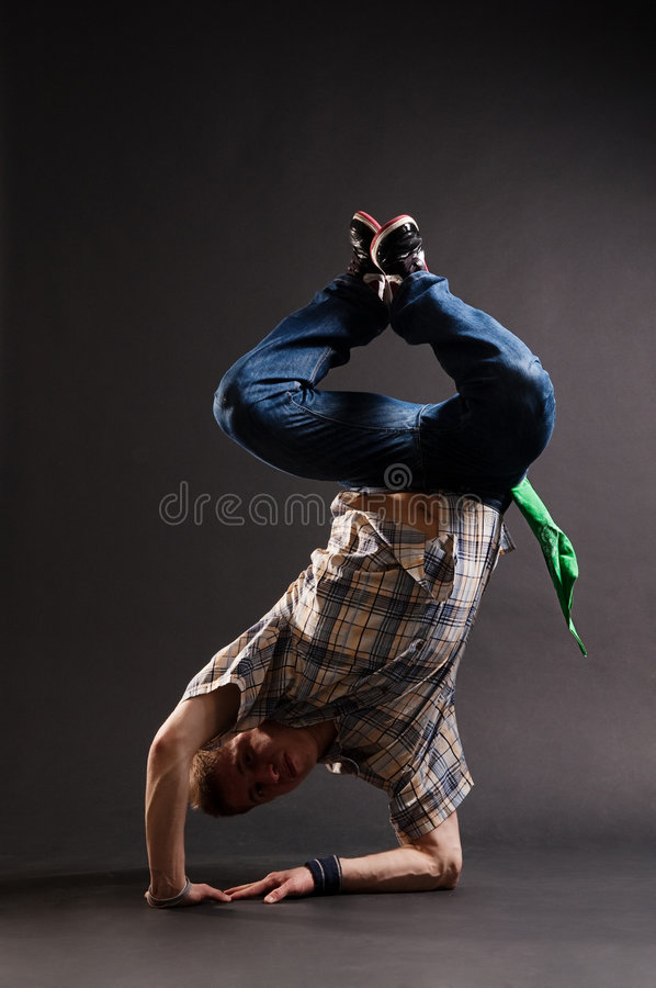 Download Hip-hop Guy Standing On His Elbow Stock Image - Image: 8423127