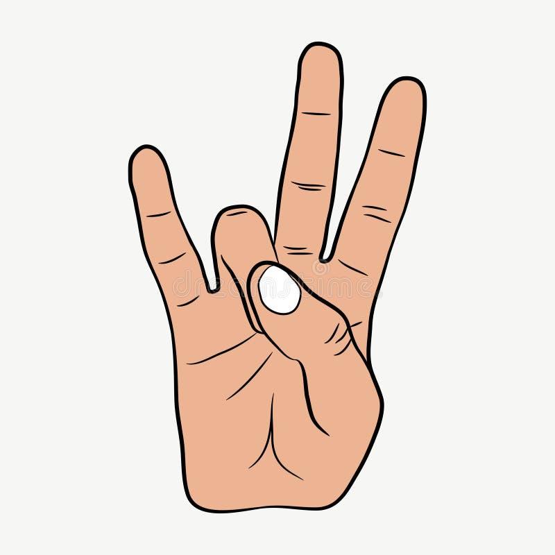 Hip-Hop-Handzeichen Ostküsten-Pochenzeichen Vektor stock abbildung