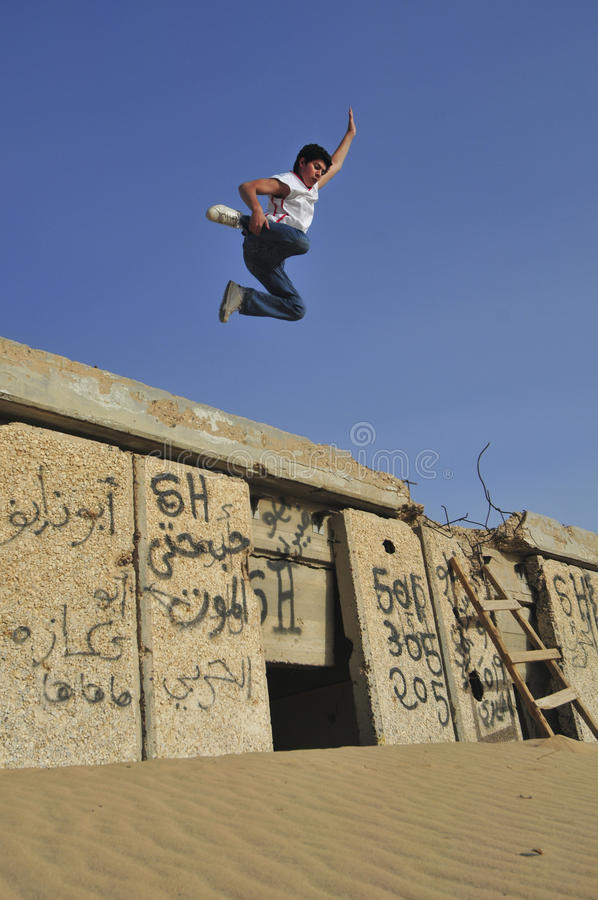 Hip Hop In Kuwait royalty free stock photography
