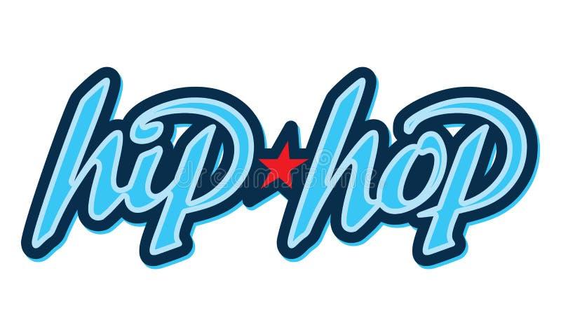 Hip-Hop lettering in graffiti style. Design element stock illustration