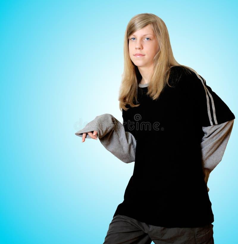 Download Hip Hop-Mädchen stockfoto. Bild von zicklein, haar, jugend - 45130