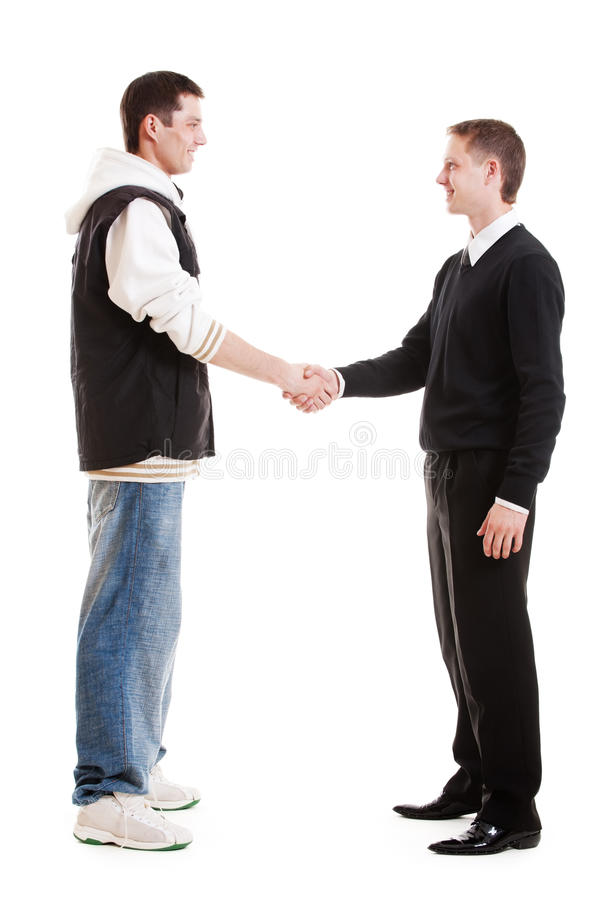Download Hip-hop Man Greeting With Businessman Stock Image - Image: 15123101