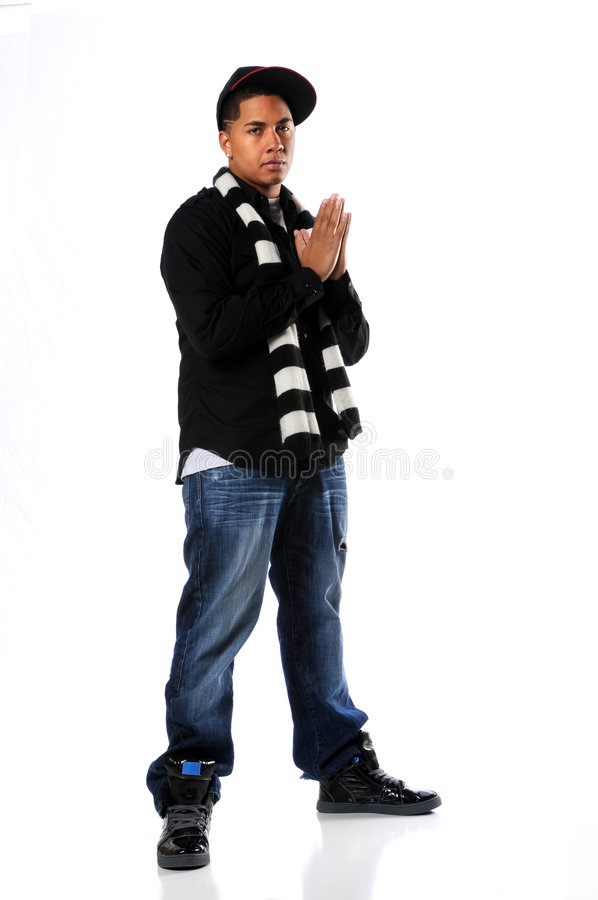 Hip Hop Man Posing royalty free stock photography