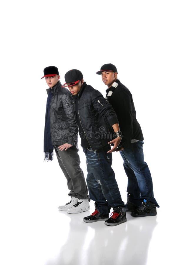Hip Hop Men Dancing stock image