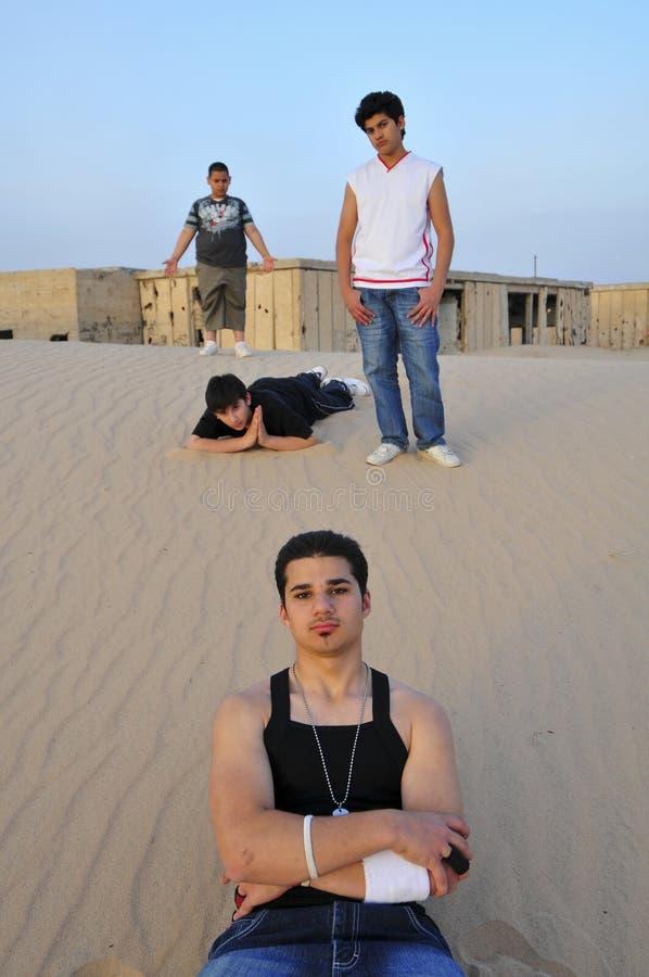 Hip Hop-Portrait in Kuwait lizenzfreie stockfotografie