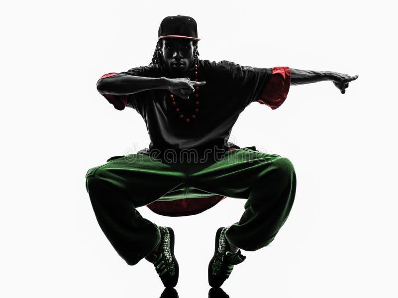 Hip hop przerwy akrobatycznego tancerza breakdancing potomstwa obraz stock