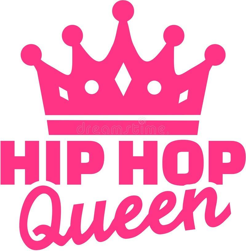 Hip hop queen with crown. Vector vector illustration
