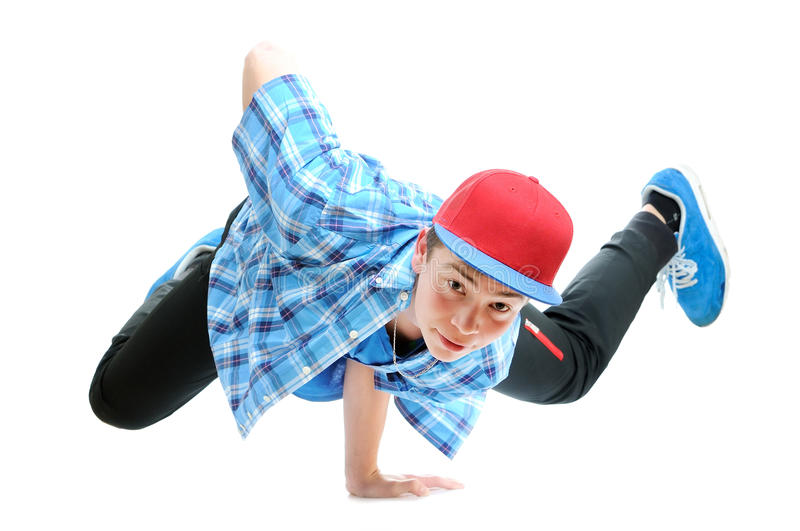 Hip-hop style dancer royalty free stock photography