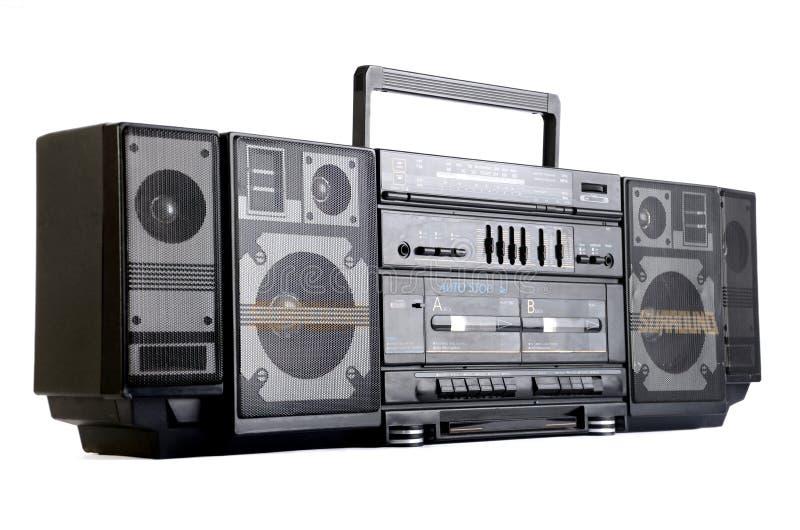 Hip hop surround sound radio isolated on white royalty free stock images