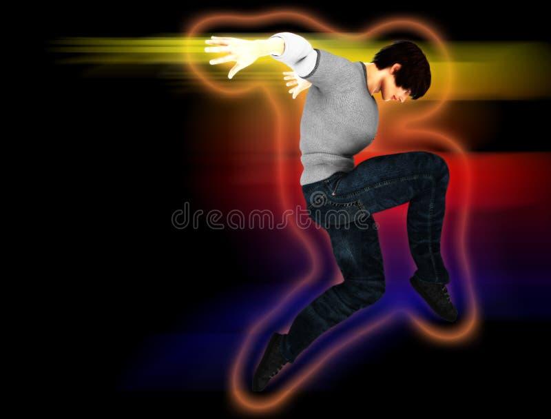 Hip Hop-Tänzer auf einer Bewegung vektor abbildung