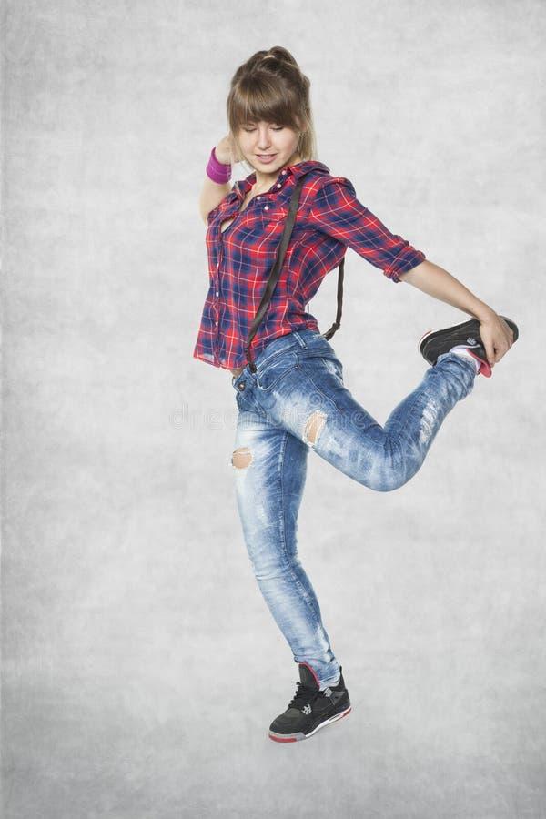 Hip-Hop-Tänzer, junges Mädchen lizenzfreies stockbild