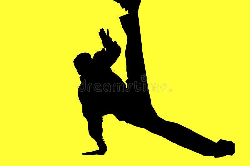 hip hop tancerkę. ilustracja wektor